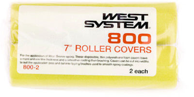 """West System Boat Marine 7/"""" Roller Covers 2 Pack Thin Polyurethane Foam Covers"""