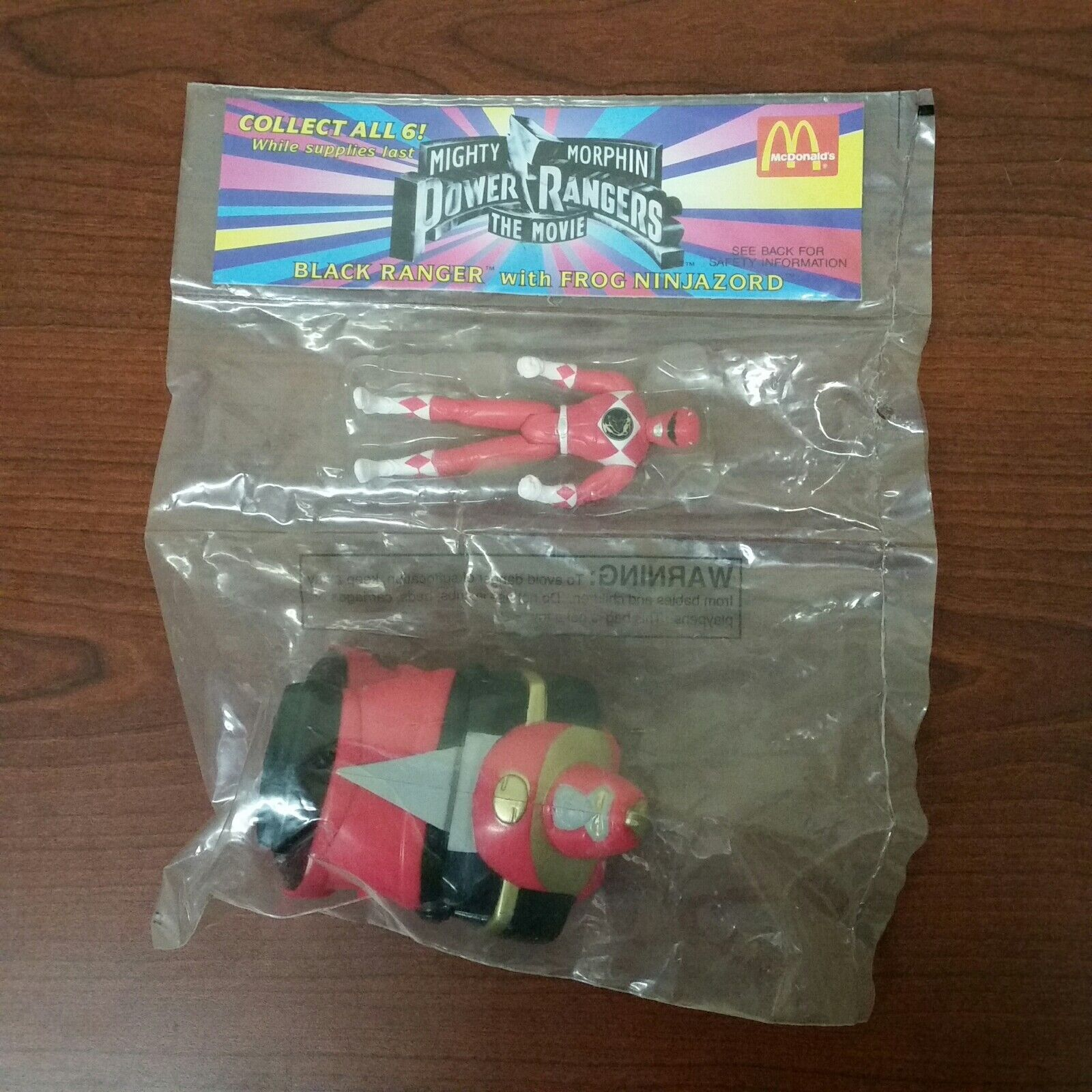 1995 McDonalds Mighty Morphin Power Rangers the Movie Red Ranger Toy MISPRINT