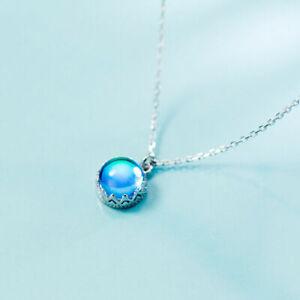 Fashion-Blue-Dream-Island-Aurora-Round-Blue-Crystal-Pendant-Necklace-Gift