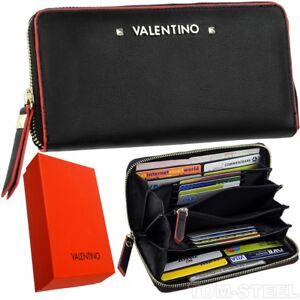 valentino femmes porte monnaie 16 compartiments pour cartes portefeuille ebay. Black Bedroom Furniture Sets. Home Design Ideas