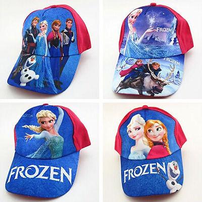 New Girls Boys Kids Sun Hats Disney Frozen Princess Elsa Anna Baseball Cap Gift