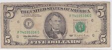 1995 U.S.A. 5 Dollars Bank Note***Collectors***