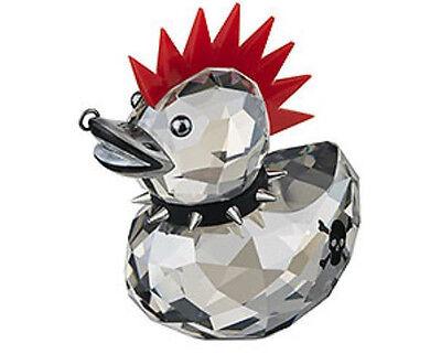Swarovski Punk Duck, Red Hair Edgy Nose Piercing Tattoo Crystal Figurine 1096735
