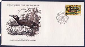 WWF-enveloppe-1er-jour-Yougoslavie-oiseau-le-canard-noir