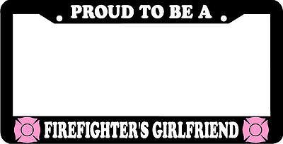 Proud MARINE GIRLFRIEND marines License Plate Frame