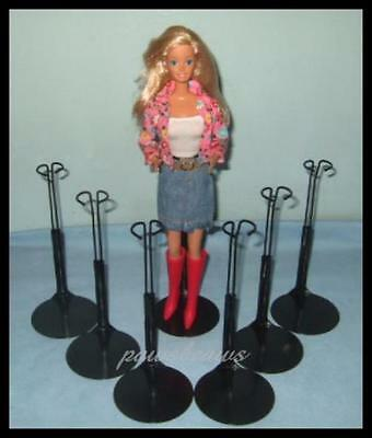 Barbie Collector Black Base Clear Post Waist Grip Collector Ken Doll Stands NEW