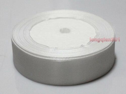 Carretes Blanco Rollo de Cinta de Raso Ancho 6,15,25mm para fiestas Navidad Regalo Caja de 02