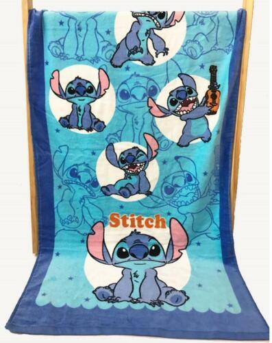 lilo/&stitch blue sit cotton bathing towel kids swimming towels gift fashion gift