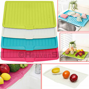 Image Is Loading Plastic Worktop Dish Drainer Drip Tray Large Kitchen