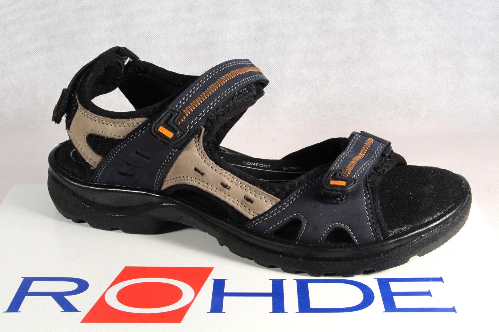 Rohde Damen Sandale Sandalen Sandaletten Weite G blau NEU