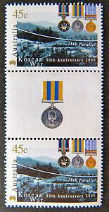 Australian-Decimal-Stamps-2000-50th-Anniversary-Korean-War-Gutter-Set-2-MNH