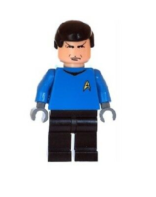 Custom Designed Minifigures Hikaru Sulu Star Trek Printed On LEGO Parts
