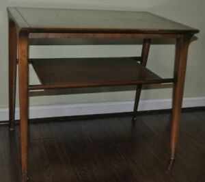 Image Is Loading Mid Century Modern Side Table With Shelf John