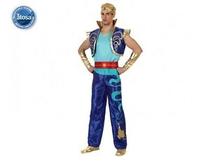 Deguisement-Homme-GENIE-Bleu-Aladin-M-L-Adulte-Dessin-Anime-NEUF-pas-cher