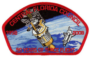 Central-Florida-Council-50-Years-of-Space-Flight-CSP-Uniform-NASA-Patch-Badge