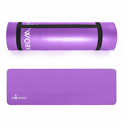 Yoga Mat for Gym Exercise Pilates Aerobics Physio Thick Non Slip & Carrier Strap