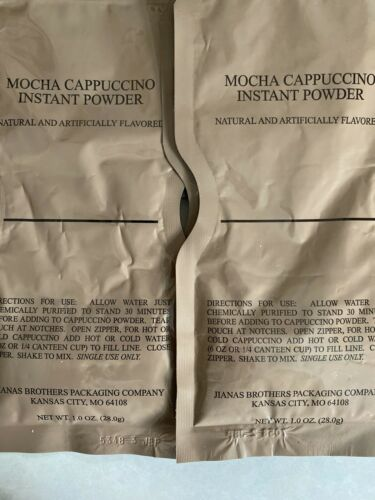MRE Lot 5 Mocha Cappuccino Instant Powder Instant Coffee Hot Drink