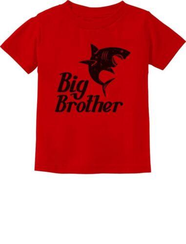 Gift for Shark Loving Boys Big Brother Toddler Kids T-Shirt Siblings