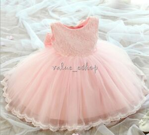 Flower-Girl-Lace-Tutu-Dress-Toddler-Baby-Birthday-Wedding-Princess-Pageant-Party