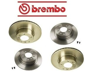 Brembo Front Ceramic Brake Pads Vented Coat Disc Rotors Kit For BMW E60 5 Series