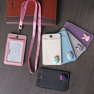 Bag-PU-Leather-Cartoon-Card-Holder-Bus-Card-Case-Identity-Badge-Cards-Cover