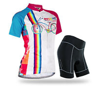 Women's Cycling Jersey Sets Bicycle Wear 3d Gel Pad Short Outdoor Bike Clothes