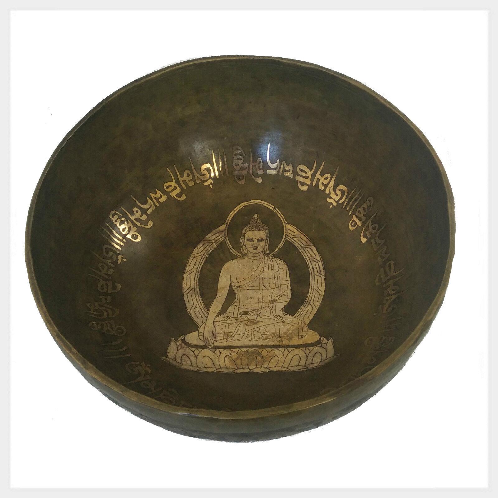 Nepal Klangschale Solar Plexus Wurzel Erleuchter Buddha 2090 Gramm 28cm Tibet