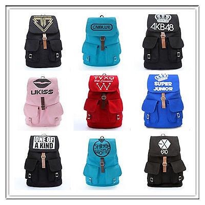 Kpop Bangtan Boys BTS Fx shinee bigbang EXO backpack Schoolbag Bookbag Canvas