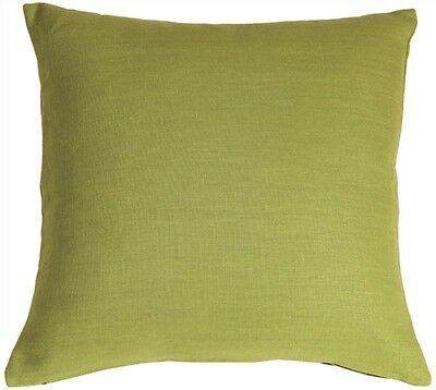 Pillow Decor - Tuscany Linen Apple Green 18x18 Throw Pillow