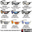 PYRAMEX-GOLIATH-SAFETY-GLASSES-MOTORCYCLE-SPORT-WORK-SUNGLASSES-Z87-1-PAIR thumbnail 1