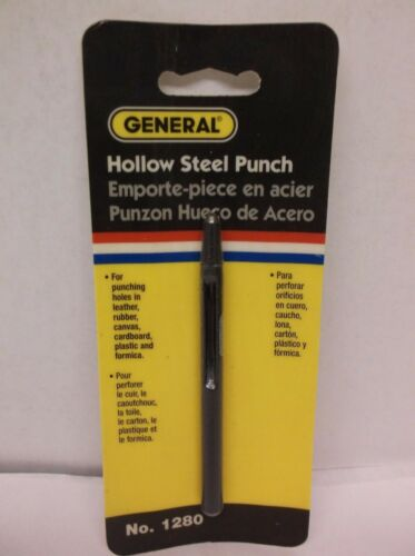 "A38S GENERAL  3//32/"" HOLLOW STEEL PUNCH  #1280A"