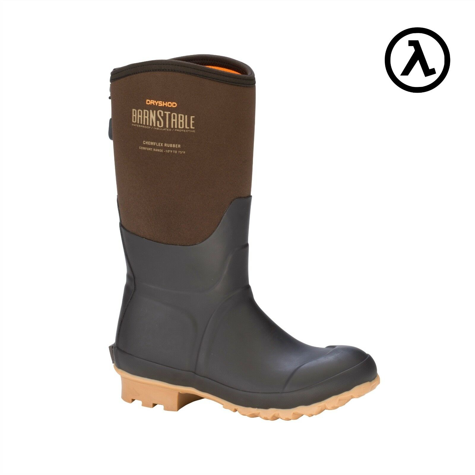 DRYSHOD BARNSTABLE WOMEN'S ALL-CONDITIONS FARM MID SIZES Stiefel BSB-WM-BR - ALL SIZES MID a80372