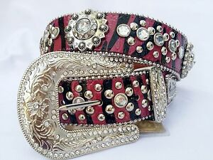 a22896ed4f63d MONTANA WEST Rhinestone HOT PINK Animal Print Cowgirl WESTERN Bling ...