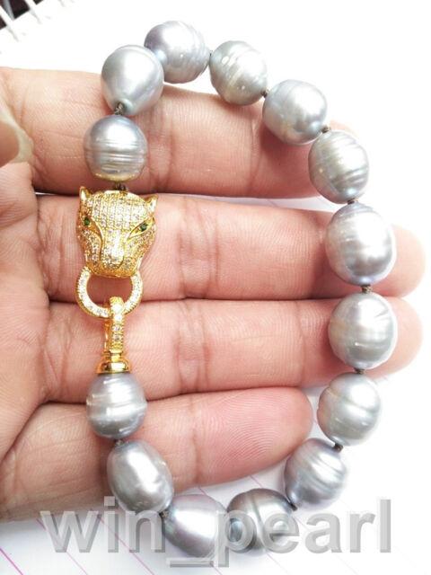 11-13MM South Sea Gray Pearl Bracelet 8 Inch NEW HOT HUGE AAA