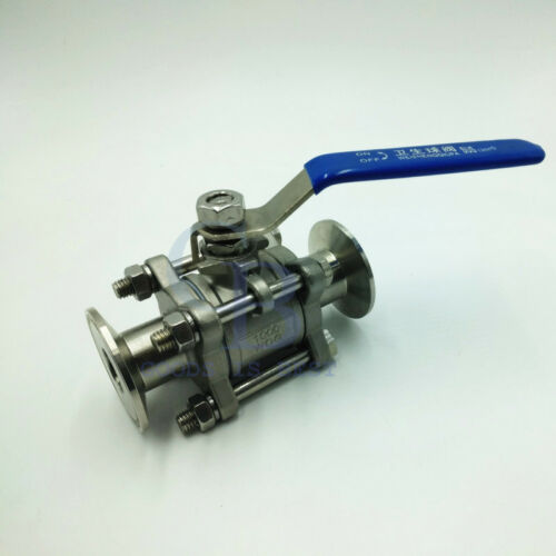 "3//4/"" 304 Stainless Steel Straight Clamp Sanitary valves Ball Valve Water Oil"