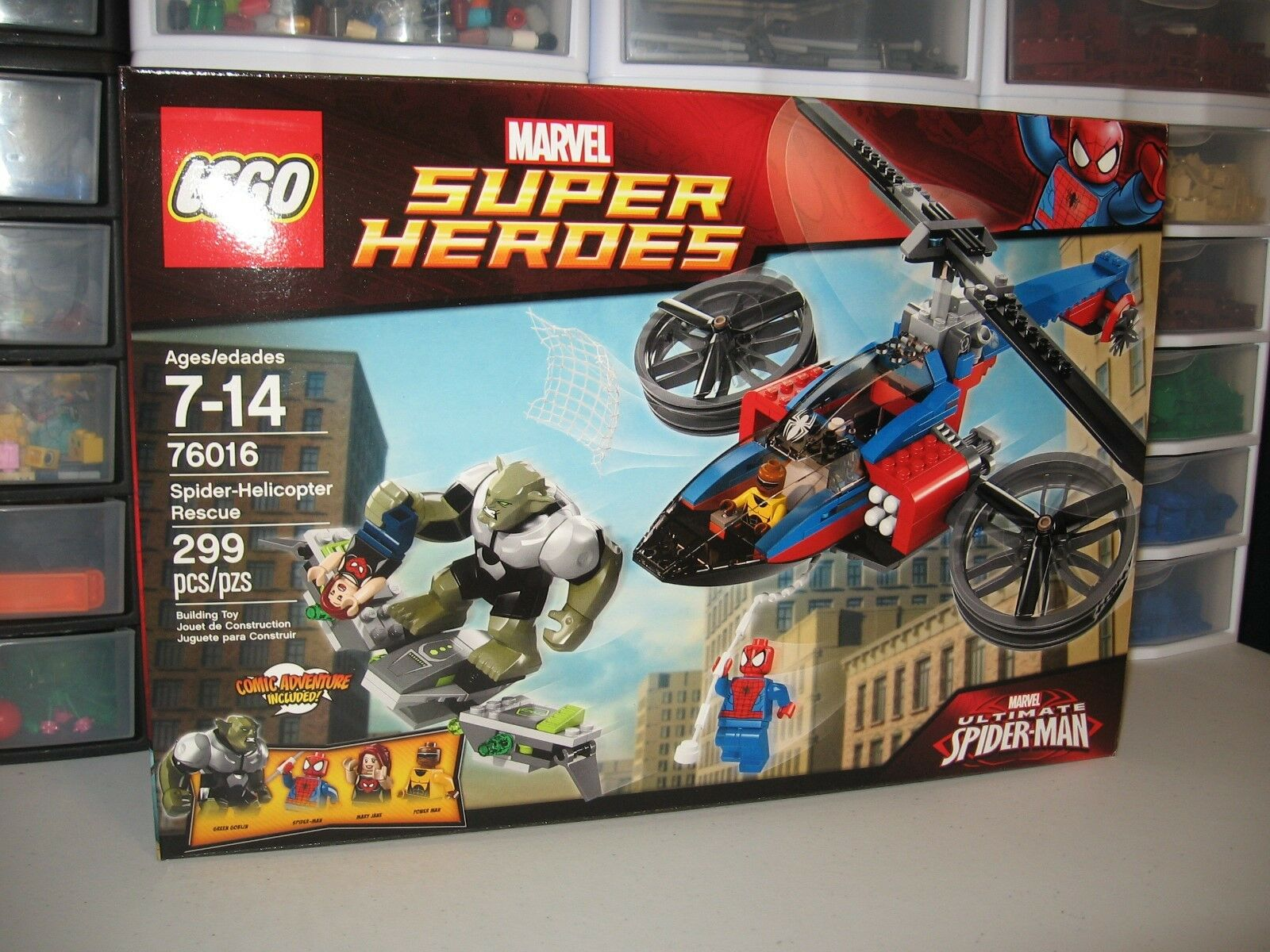 LEGO MARVEL SUPER HEROES  SPIDER-HELICOPTER RESCUE     76016  NEW IN BOX