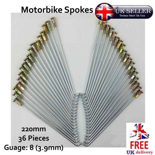 Motorbike Spokes 220mm Nipple Cap Gauge 8 SET Motorcycle Wheel 5pcs 36pcs