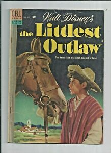 Walt-Disney-039-s-The-Littlest-Outlaw-Four-Color-609-Dell-Comic-Book-SHIPS-FREE