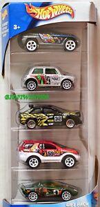 Hot Wheels 5 Voiture Paquet Cadeau Tiki Torcher Rally Mini Cooper W