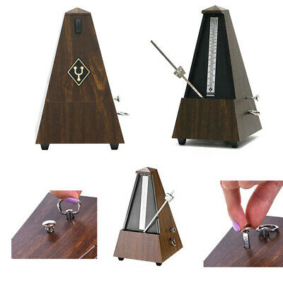metronome mechanical music timer wood vintage classical for piano guitar uk 7625823261891 ebay. Black Bedroom Furniture Sets. Home Design Ideas