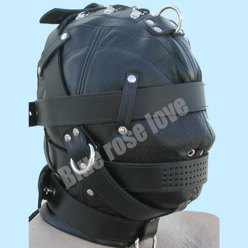 Pure Leather BONDAGE Heavy Duty Leather Hood BDSM