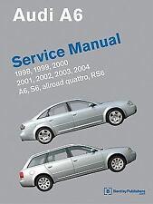 1998-2004 Audi A6 Allroad Quattro S6 RS6 Repair Manual 2000 2001 2002 2003 A604