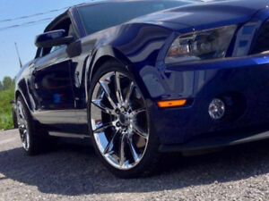 2016 Mustang Wheels >> Details About Mustang Black Mamba Chrome Wheel Supersnake Style 5x114 3 20x10 2005 2019