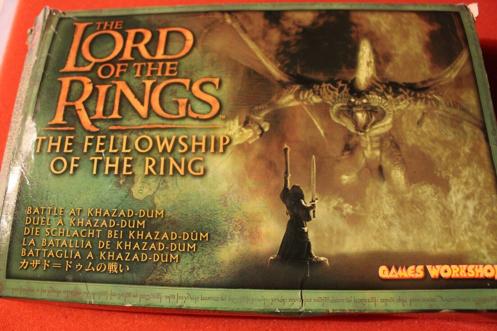 Games Workshop Lord of the Rings battle at Khazad Dum Balrog coffret Metal neuf Épuisé