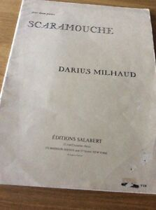 SCARAMOUCHE-pour-2-pianos-PAR-DARIUS-MILHAUD-EDITION-SALABERT-30-pages