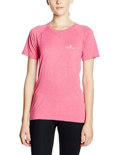 Ronhill Aspiration Cool-Knit Femmes Manches Courtes Running T-Shirt rose Taille 12