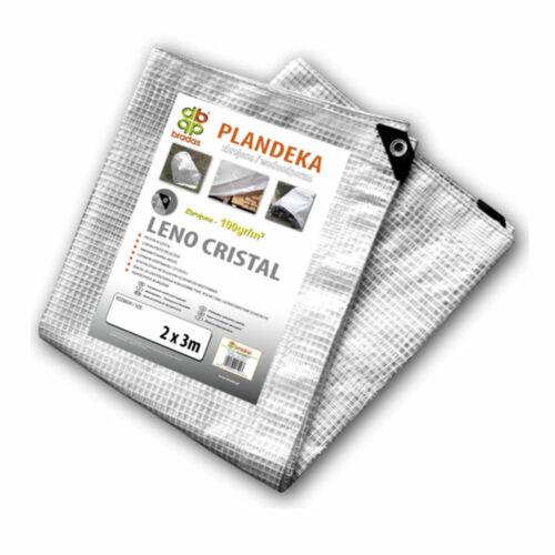 Doppio rafforzata TELONE tessuto copertone telone occhielli trasparente 100g//qm 3-150m²
