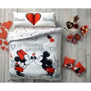 Disney MICKEY MINNIE MOUSE Double Queen Size Duvet Quilt Cover ...