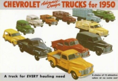 CHEVROLET 1950 Truck Sales Brochure 50 Chevy Pick Up