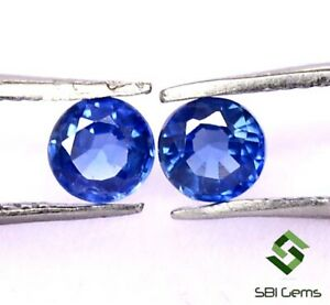 Certified-Natural-Blue-Sapphire-Round-Cut-Pair-4-mm-0-58-Cts-Loose-Gemstone